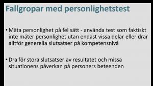 fallgropar personlighetstest